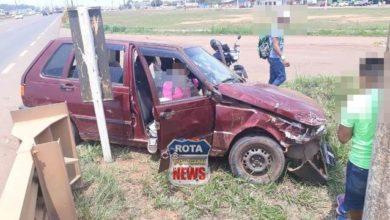 Foto de Indígenas se envolvem em colisão na BR-364 no perímetro urbano de Vilhena
