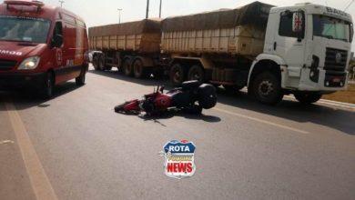 Photo of Motociclista cai com moto na BR-364 e além das escoriações, pode ter fraturado a perna em Vilhena