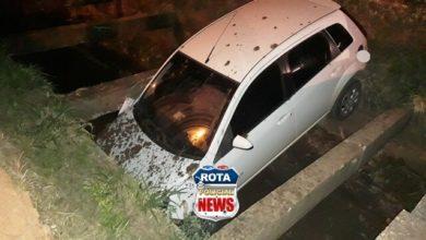 Photo of Mais um: universitária entra com carro dentro de galeria de esgoto aberta na avenida Brigadeiro em Vilhena