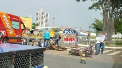 Foto de Duas mulheres sofrem ferimentos após colisão entre motos na BR-174