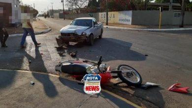Foto de Motociclista com sinais de embriaguez se envolve em grave acidente