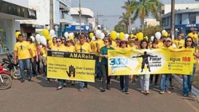 Foto de Equipe do deputado Luizinho Goebel participou da caminhada em alusão ao Setembro Amarelo