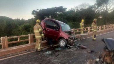 Photo of Cinco ficam feridos em grave acidente na ponte do rio São Bartolomeu