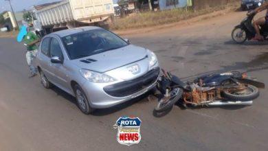 Photo of Colisão entre carro e motocicleta deixa um ferido em Vilhena