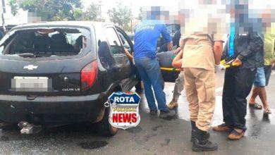 Foto de Motorista de Celta sofre ferimentos na face após colidir contra carreta na BR-364 em Vilhena