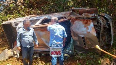 Foto de Capotamento de camionete na BR-174 entre Juína e Vilhena deixa idoso ferido