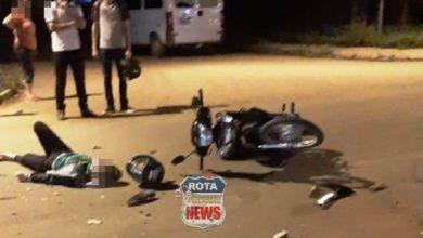Photo of Motociclista sofre possíveis fraturas após colisão entre carro e moto