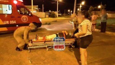 Photo of Casal sofre queda com motocicleta e motociclista sofre possível fratura em Vilhena