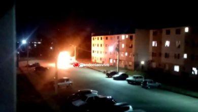 Foto de Bandidos incendeiam carro da prefeitura em novo ataque em Porto Velho na noite desta sexta