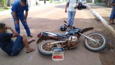 Photo of Motociclista sofre possível fratura no pé em acidente de trânsito