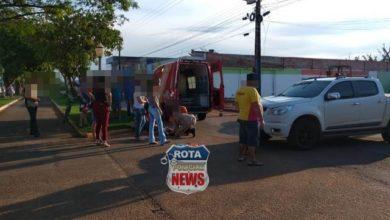 Foto de Colisão entre camionete e motoneta deixa jovem ferida na avenida Paraná