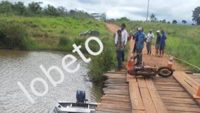 Foto de Cadáver é encontrado dentro de rio ao lado de ponte em Chupinguaia