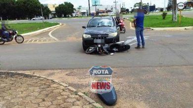 Photo of Picape e motoneta se envolvem em colisão no Jardim América