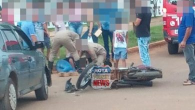 Photo of Colisão entre carro e motocicleta deixa um ferido e homem é detido por embriaguez