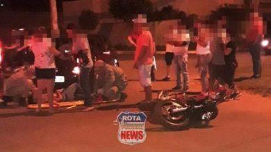 Photo of Motociclista sofre ferimentos após atingir veículo em cruzamento