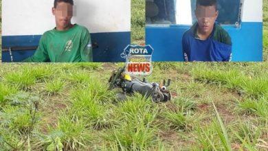 Photo of Ladrões roubam motocicleta e na fuga sofrem queda e acabam presos em Chupinguaia