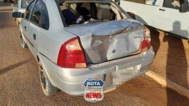 Foto de Motorista de picape foge do local após atingir veículo de passeio em Vilhena