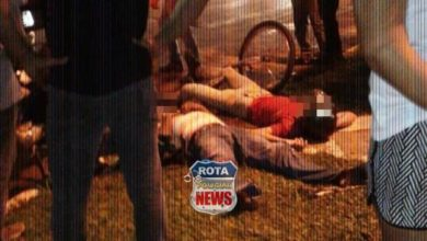Photo of Duas pessoas ficam feridas após colisão entre moto e bicicleta no Jardim Eldorado