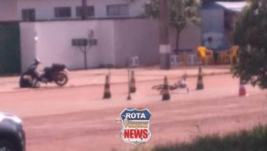 Foto de Mulher fica em estado grave ao ser atingida por motoneta em Vilhena
