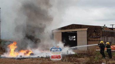 Photo of Incêndio levanta fumaça escura sobre Vilhena movimentando bombeiros e policiais militares