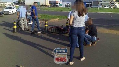 Photo of Mãe e filho sofrem ferimentos após acidente no Centro