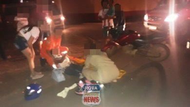 Foto de Quatro venezuelanos, entre eles bebê e criança de 03 anos ficam feridos após colisão de motos