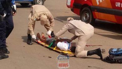 Photo of Duas pessoas sofrem ferimentos ao terem moto atingida por veículo no 5ºBEC