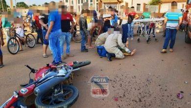 Photo of Motociclista sofre laceração em uma das pernas após acidente contra camionete Blazer