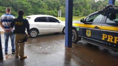 Foto de Homem é preso pela PRF com carro clonado e documento falso