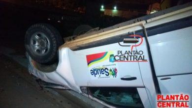 Photo of Ambulância capota na BR-364 após colidir com veículo que realizava ultrapassagem em local proibido