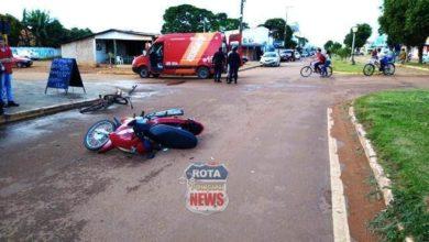 Photo of Idoso de 64 anos que estava embriagado acaba ferido após entrar com bicicleta na frente de moto