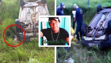 Photo of Homem morre prensado pelo próprio carro após capotamento