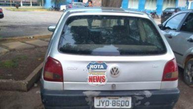 Photo of Veículo furtado no Park Shopping é abandonado no estacionamento da rodoviária de Vilhena