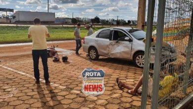 Photo of Motociclista sofre cortes profundos no braço após colisão entre carro e motocicleta