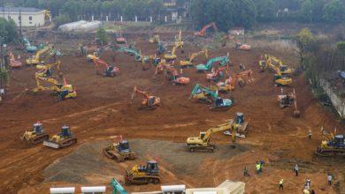 Photo of China constrói hospital de 1 mil leitos como parte do esforço do país contra o novo coronavírus