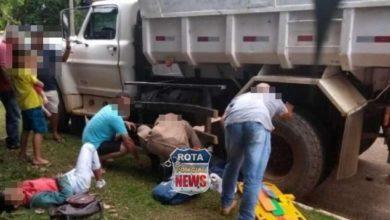 Photo of Mulheres ficam em estado grave após moto ir parar embaixo de caminhão em Vilhena