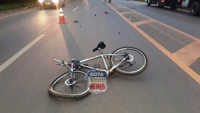 Foto de Ciclista fica em estado grave após acidente na BR-364