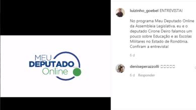 Photo of Luizinho Goebel fala sobre educação e as escolas Militares de Rondônia em entrevista