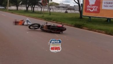Photo of Motociclista fica ferido após acidente na BR-174 próximo da prefeitura de Vilhena