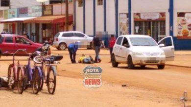 Photo of Colisão entre carro e moto é registrada no setor 06, mas envolvidos não acionam polícia