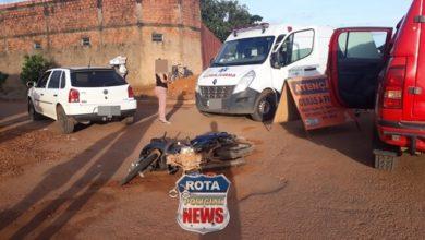 Photo of Colisão entre carro e moto é registrada no setor 08 e motociclista termina ferido