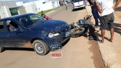 Photo of Motociclista sofre escoriações após acidente em semáforo da avenida Presidente Nasser