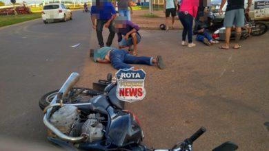 Photo of Motociclista fica inconsciente após acidente no 5°BEC