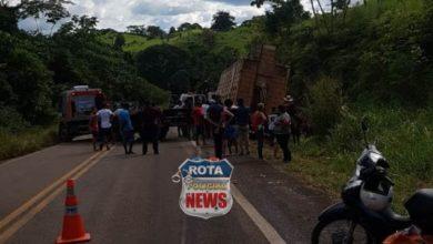 Photo of Caminhão boiadeiro tomba na BR-435 e  rodovia fica interditada por duas horas