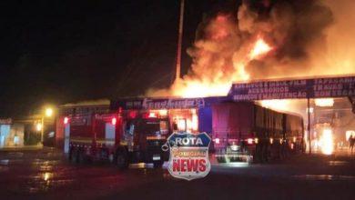 Photo of Incêndio consome tapeçaria anexa a empresa Tend Tudo em Vilhena e bombeiros se mobilizam