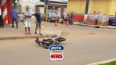 Foto de Motociclista sofre ferimentos após acidente na avenida Paraná