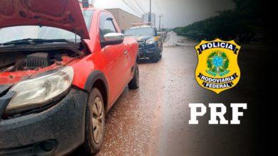 Foto de PRF recupera veículo adulterado e prende seu condutor nesta manhã de domingo