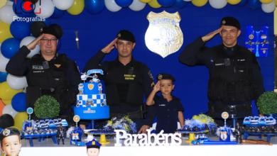 Photo of Criança comemora aniversário com tema da Polícia Militar e visita o quartel em Vilhena