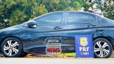 Photo of PRF recupera veículo que foi roubado em Vilhena, motorista de aplicativo foi amarrada