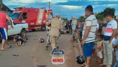 Photo of Duas pessoas ficam em estado grave após colisão entre moto, bicicleta e picape